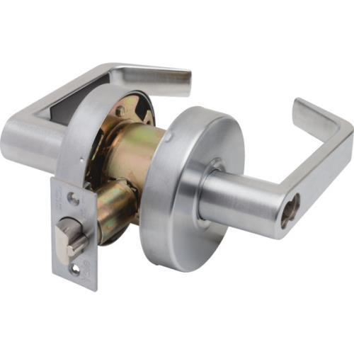 Yale Interchangeable Core Cylindrical Storeroom Lever Lock, Satin Chrome