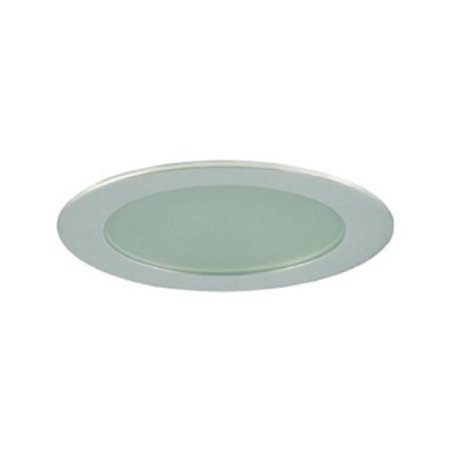 Jesco Lighting TM309CH Aperture Low Voltage Trim Recessed Light, Flat Frosted Opal Glass For Shower, Chrome Finish 3 in. Glass Low Voltage Trim