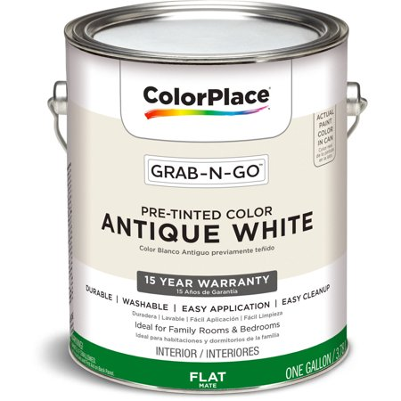 Colorplace Pre Mixed Ready To Use Interior Paint Antique White Flat Finish 1 Gallon
