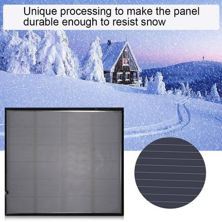 Peahefy 6V 2W mini alimentation intelligente de panneau solaire polycristallin portatif pour chargeur de batterie extérieur, panneau solaire, panneau solaire de batterie - image 5 de 8