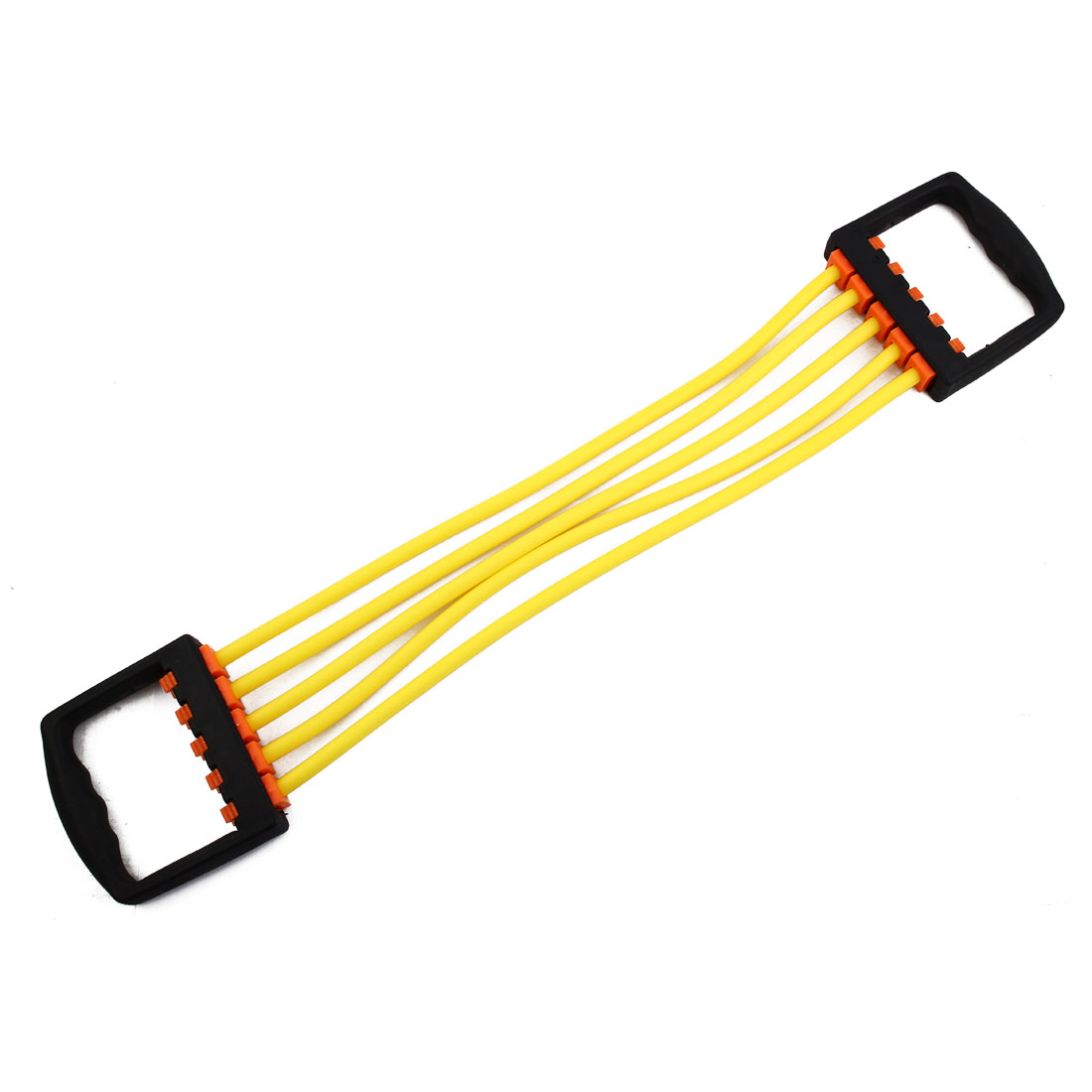 Sport Stretchy Powerlifting 5 Resistance Tube Strength Training Rope Hose Yellow