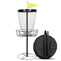 24-Chain Portable Disc Golf Basket Disc Golf Target with Carrying Bag