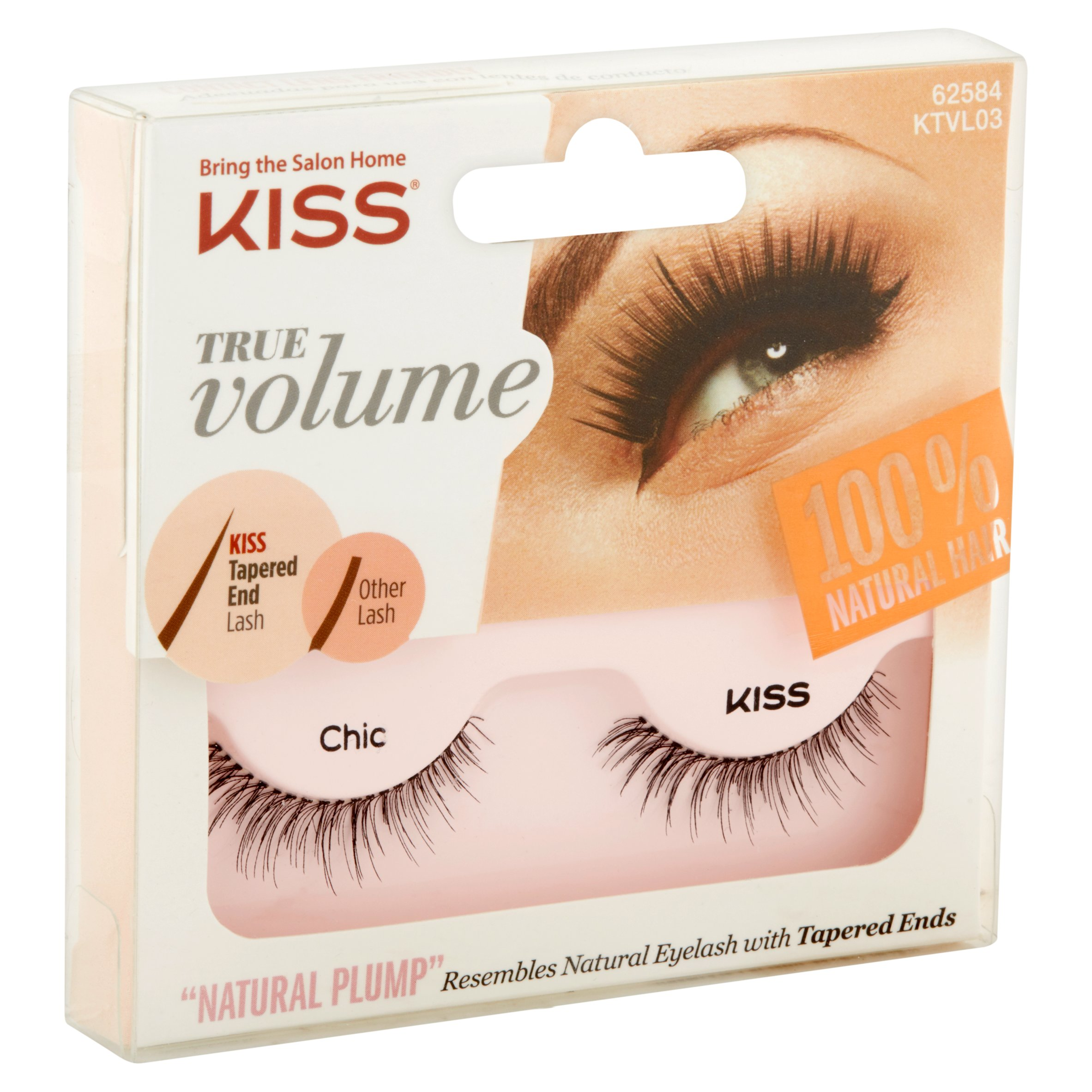 Kiss True Volume Natural Plump Eyelashes Chic Walmart
