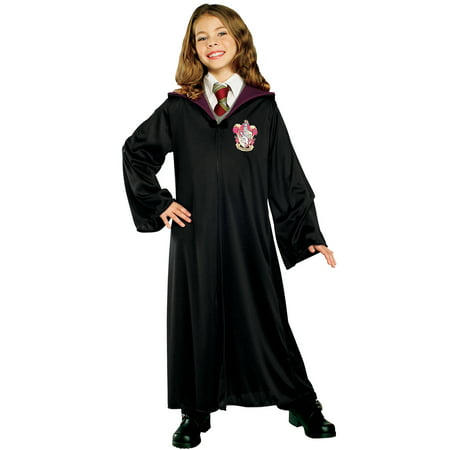Harry Potter Hermione Granger Child Gryffindor Robe Halloween Costume - Halloween Black Dress Costume