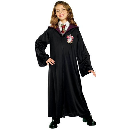 Harry Potter Hermione Granger Child Gryffindor Robe Halloween Costume (Halloween Costumes Black Dress)