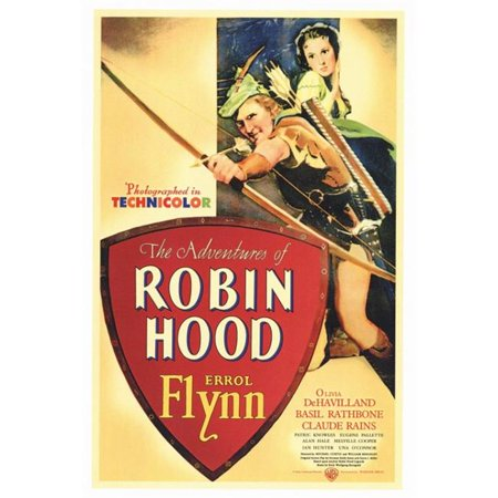 Posterazzi MOVGF6178 The Adventures of Robin Hood Movie Poster - 27 x 40 in. - image 1 de 1
