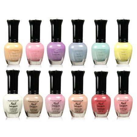 Polish Collection - Kleancolor Collection - Beautiful Assorted Pastel Nail Polish 12pc Set