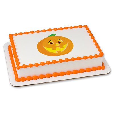 Halloween Edible Icing Image for 8 inch round cake (Halloween Gravestone Cake)