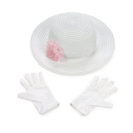 Polyester Tea Party Hat Gloves Set, 1 Tea Party Hat & Gloves Set. By Fun
