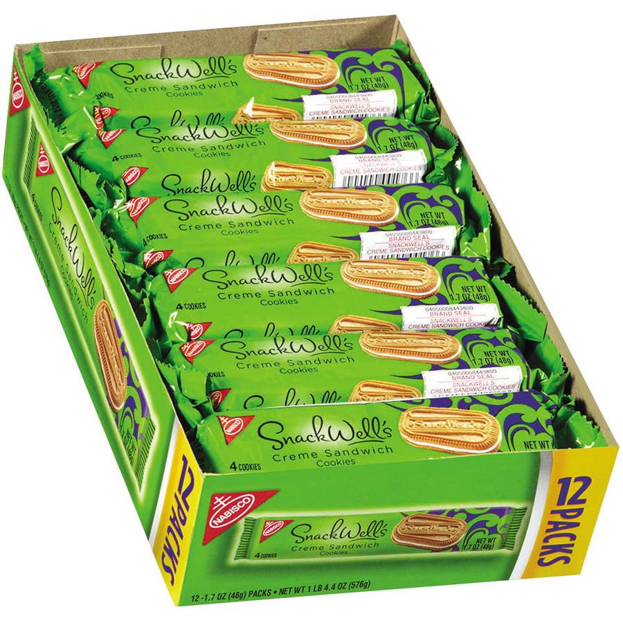 Nabisco SnackWell's Cookies, Vanilla Crme, 1.7 oz Pack, 48/Carton