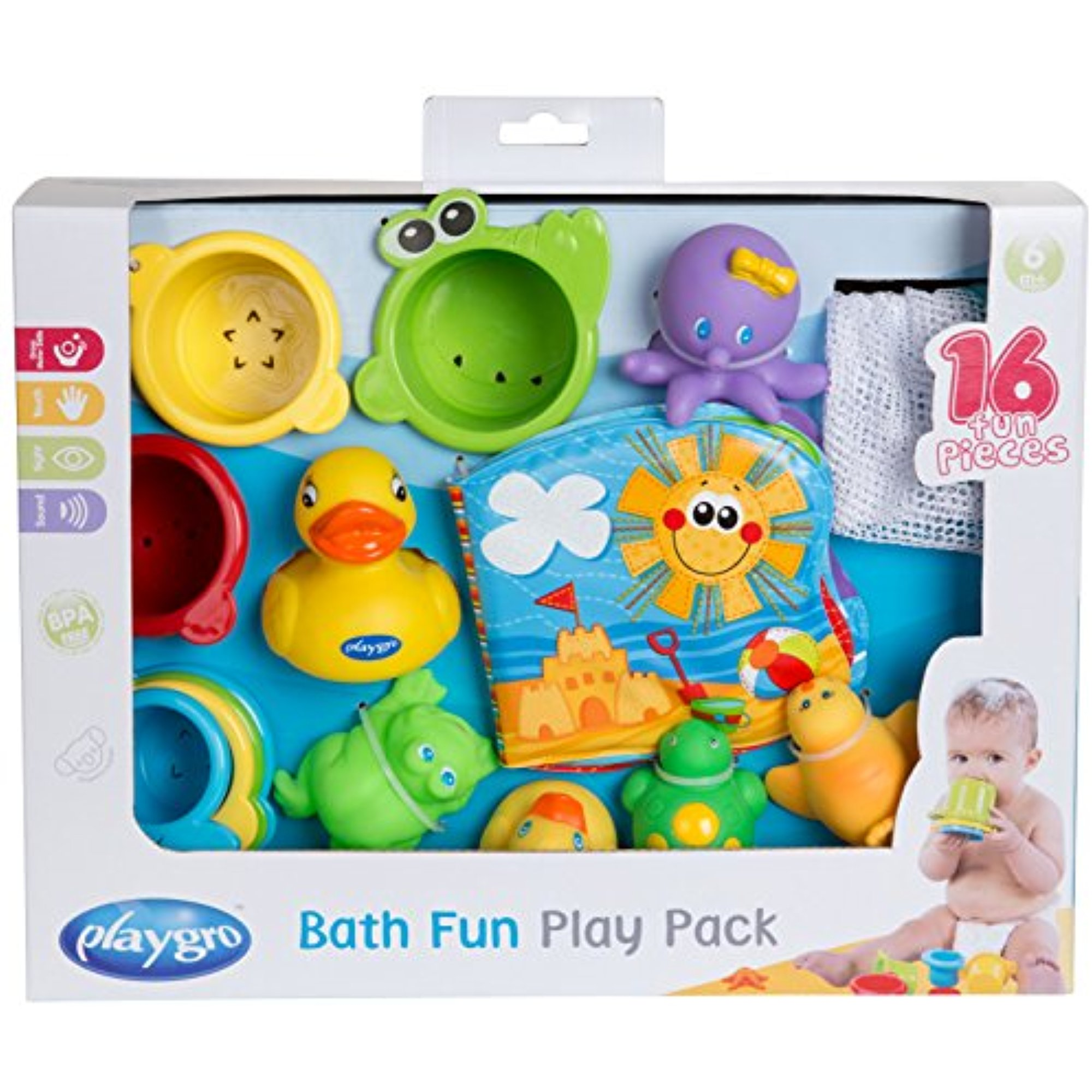 Playgro Bath Fun Play Pack, 15 Pieces