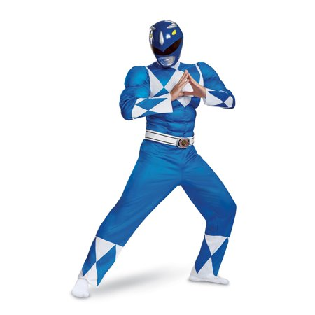 Power Rangers - Mighty Morphin Blue Ranger Classic Muscle Adult Halloween Costume