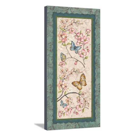 Le Jardin Butterfly Panel I Stretched Canvas Print Wall Art By Kate McRostie Butterfly Framed Panel Print