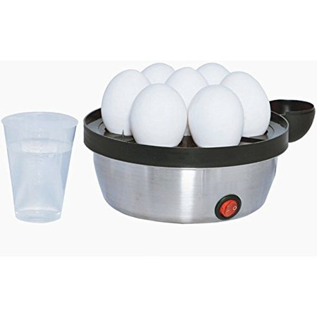 Rapid 7 Egg Cooker (Modern Design) - Chef Quality Eggs: Poached, Deviled, Benedict, Salad & more - Make Soft, Med or Hard Boiled Eggs - BPA Free Removable (Soft Boiled Egg)