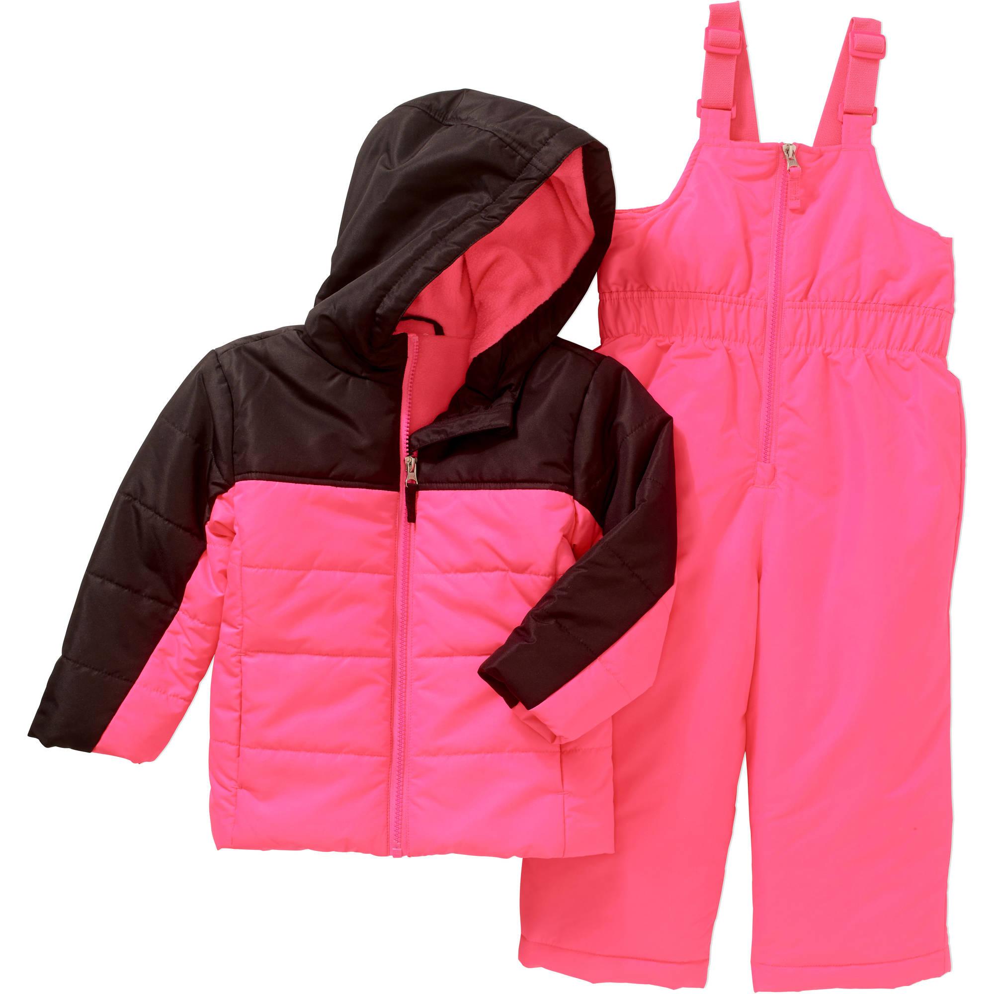 Toddler Girls' Bib and Jacket Ski/Snowboard 2-Piece Set