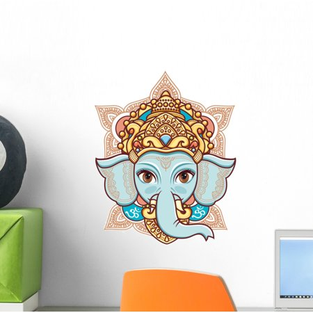 Elephant Stick (Elephant Head Lord Ganesh Wall Decal Wallmonkeys Peel and Stick Animal Graphics (12 in H x 12 in W) WM503024 )