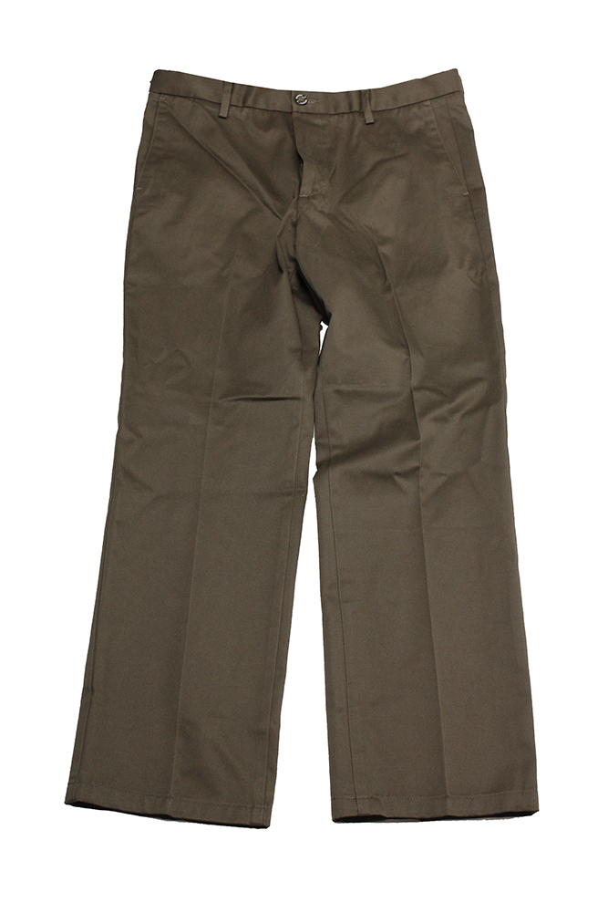Dockers Brown Signature Khaki Flat-Front Pants 34 by