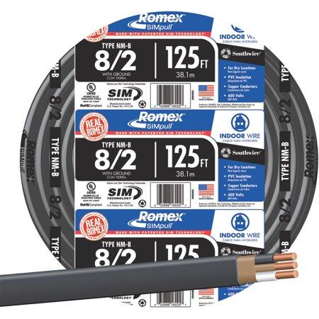 Romex 8-2 NMW/G Wire - Walmart.com