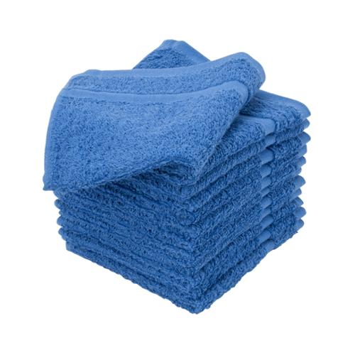 "Allure, 12"" x 12"" Pack of 12 100% Cotton Terrycloth Salon Towels, ROYAL BLUE, 401207"