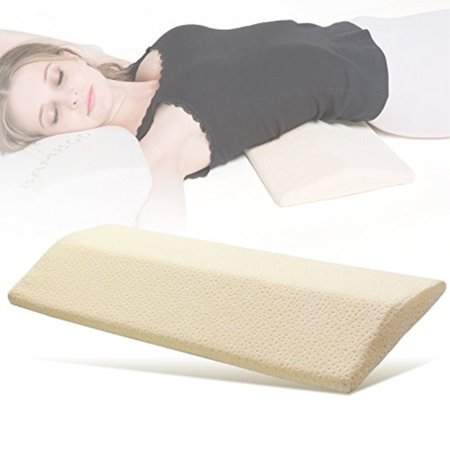 IKSTAR Long Sleeping Pillow for Lower Back Pain,Multifunctional Memory Foam Orthopedic Lumbar Support Cushion for Hip,Knee,Spine Alignment and Sciatic Nerve Pain