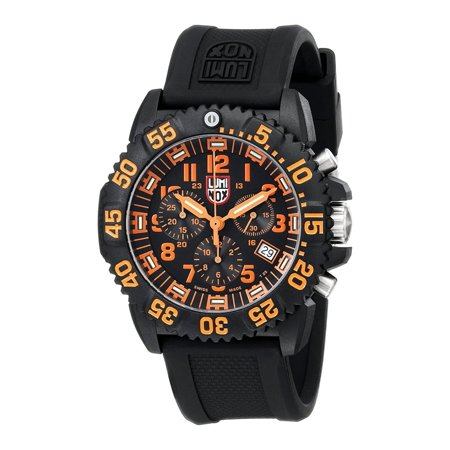 LUMINOX Sea Colormark Chronograph 3080 Series, Black Strap, Round Black Dial, Men's Watch A.3089