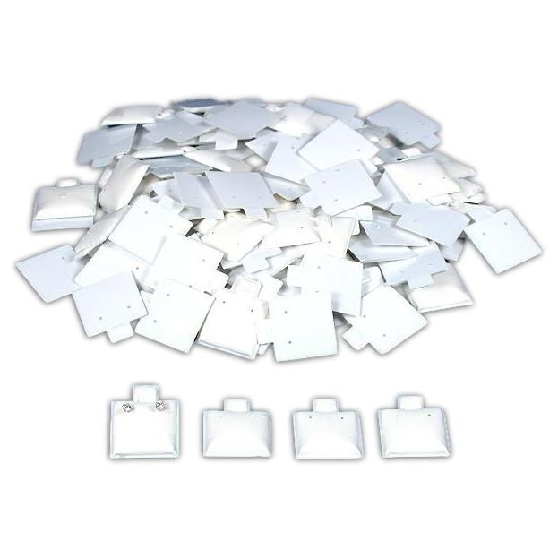 """100 White Earring Puff Cards Jewelry Showcase Displays 1"""""""