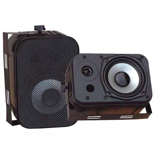 """Pyle 5.25"""" Indoor/Outdoor Waterproof Speakers (Black)"""