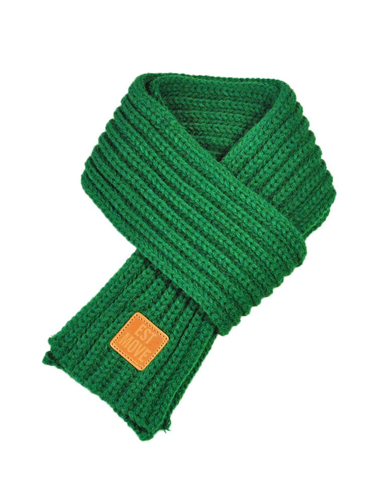 Lovely Autumn Winter Boys Girls Baby Kid Solid Scarf Warm Knitted Scarves GN