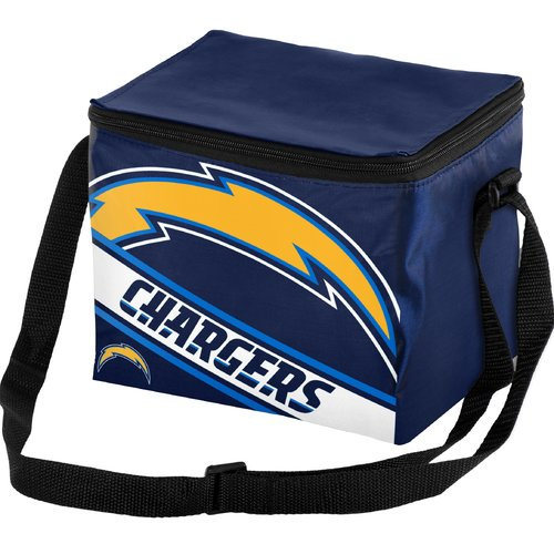Forever Collectibles Big Logo Stripe 6 Pack Cooler, San Diego Chargers