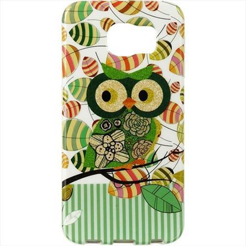 Samsung Galaxy S6 TPU Imd Case With Glitter Owl Green