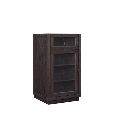 Coltrane Audio Video Component Cabinet with Lift Top for Record Player,  Espresso Pine