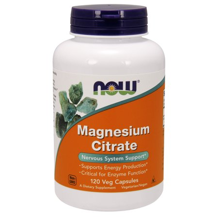 NOW Supplements, Magnesium Citrate, 120 Veg Capsules ()