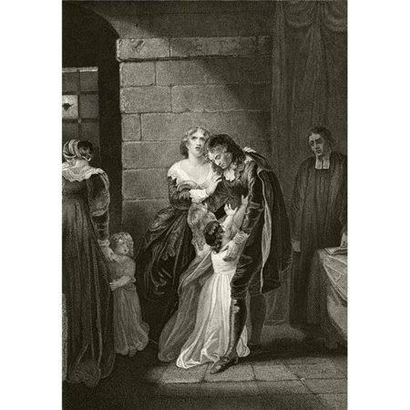 Posterazzi  Lord William Russell Saying Farewell To His Family Prior To His Execution July 21 1683 From The National & Domestic History of England by William Aubrey Published London Circa 1890 Poste - image 1 of 1