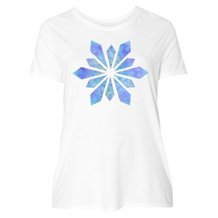 4756a0320 Inktastic - Snowflake Crystals Diamonds Women's Plus Size T-Shirt Christmas  Winter - Walmart.com