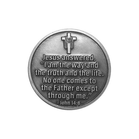Follow Me Easter Coins Jesus Carrying Cross, John 14:6,4