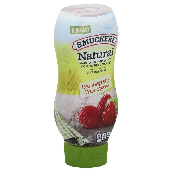 Smucker's Natural Red Raspberry Fruit Spread, 19-Ounce