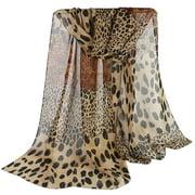 Elegant Scarf Women National Wind Sunscreen Fashion Leopard Print Chiffon Silk Scarf Shaw Scarves Foulard Femme!
