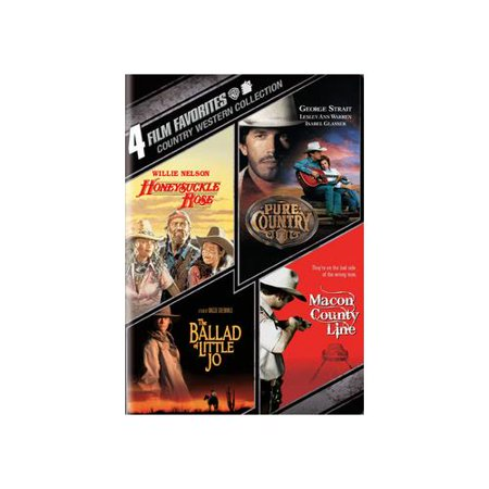 4 Film Favorites  Country Westerns   Pure Country   Honeysuckle Rose   The Ballad Of Little Jo   Macon County Line  Widescreen