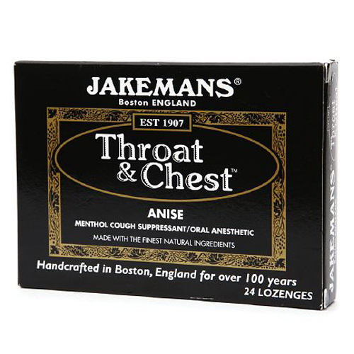 Jakemans Anise Throat And Chest Lozenges - 24 Ea