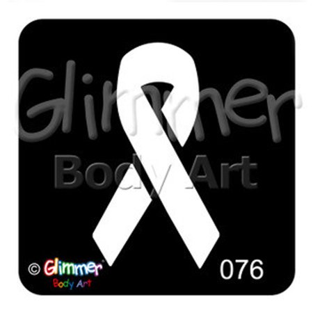 Awareness Ribbon Tattoos (Glimmer Body Art Tattoo Stencil - Awareness Ribbon)