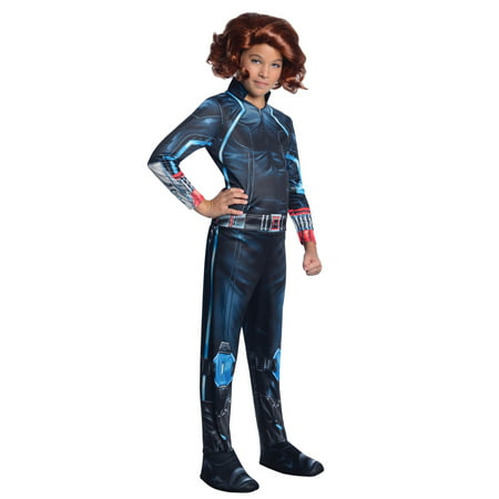 Womens Black Widow Costume (Black Widow Costume Girls-Licensed Marvel Avengers)