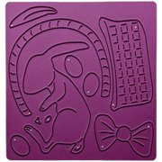 Cheery Lynn Designs Die-Bunny In Basket, 4 Inch X 4 Inch