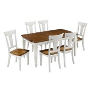 7-Pc Dining Set in White