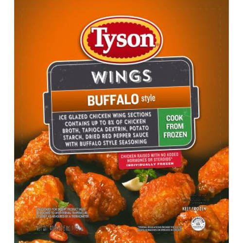 Tyson Buffalo Style Seasoned Wings Sections 2.5 lbs.