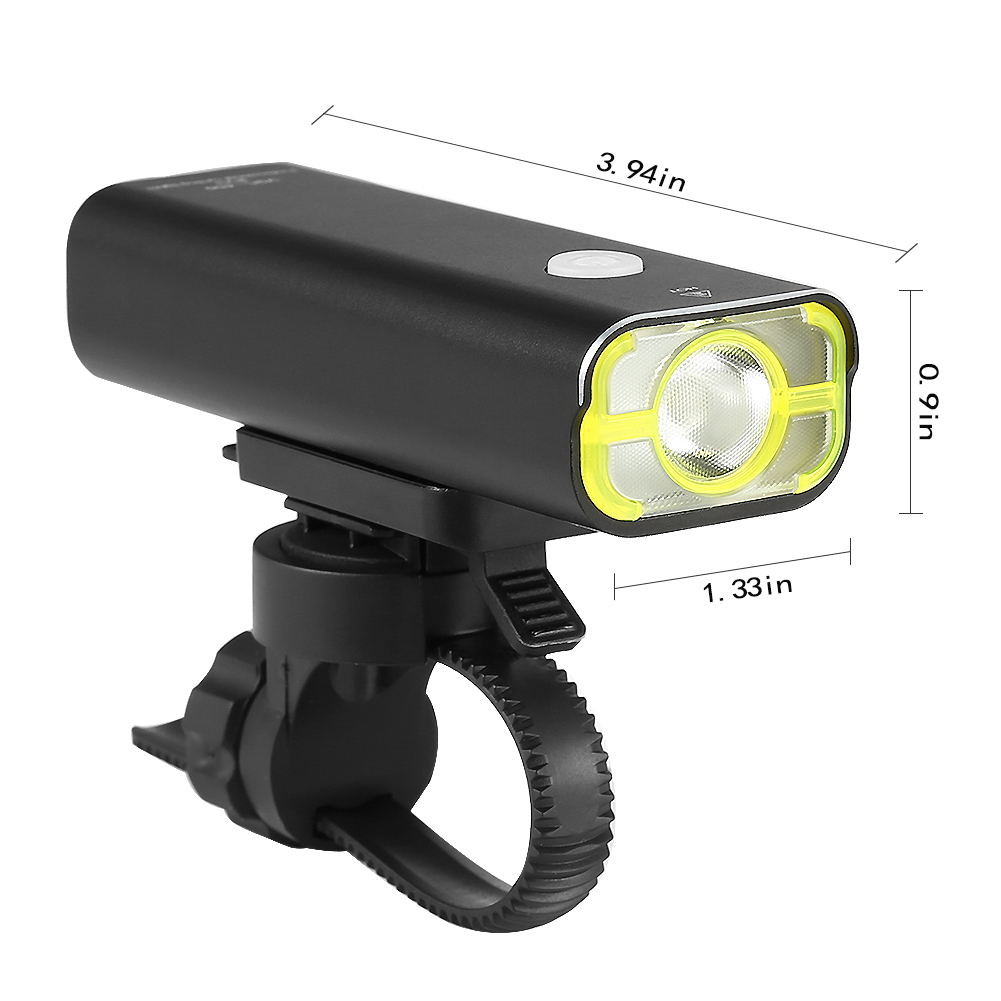 LED USB Rechargeable Cycling Headlight Wide Beam Angle 360° Swivel 400 Lumens LED Off Road Bicycle Bike Front Light - image 3 of 8