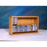 Wood Shed 206-24 Solid Oak Dowel Cabinet for CDs