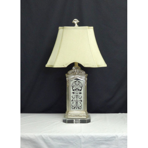 Amita Trading Batik Mirrored 28'' H Table Lamp