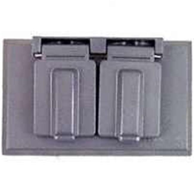 Arrow Hart S989-SP Weatherproof Cover, 4.57 in L x 2.81 in W x 0.55 in T, Gray, Metal - image 1 of 1