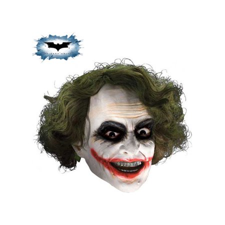 Joker 3/4 Mask with Hair Child Costume Accessory - Joker Costume Mask