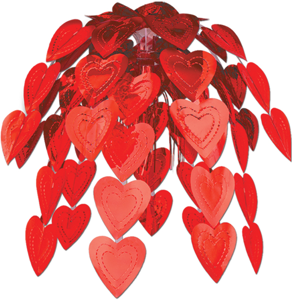 Ddi Red Heart Cascade Decoration (pack Of 36)